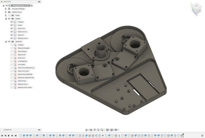 A CAD model of refinements discovered in the first round of prints