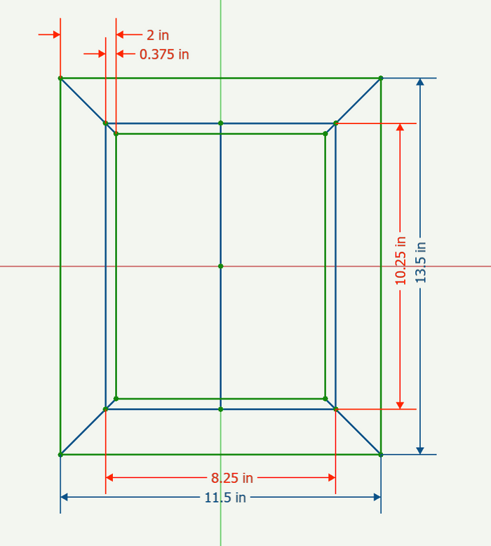 CAD Drawing of dimensioned profile